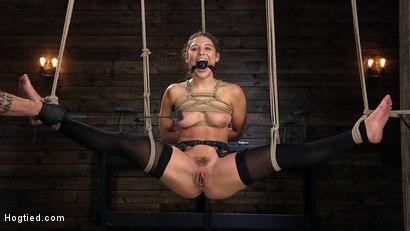 Kink.com- Hot Body Abella Danger Disciplined and Made to Cum in Rope Bondage