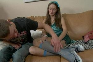 Awesomeinterracial.com- First Timer Teen Sharron Quivers at the Idea of Sex