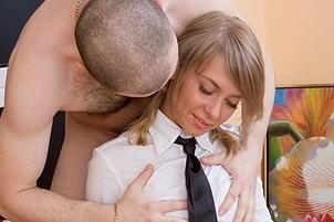 Awesomeinterracial.com- Sexy Pig-tailed Sheena_s First Time Is Long Overdue