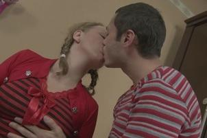 Awesomeinterracial.com- Pigtailed Gabriella Takes A Fat Rod In Her Pussy And Her Butt