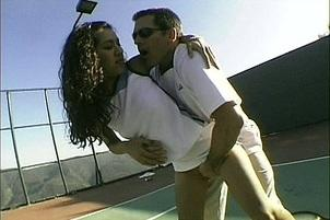 Awesomeinterracial.com- Catalina And Taylor St. Claire Fuck Guy After Playing Tennis