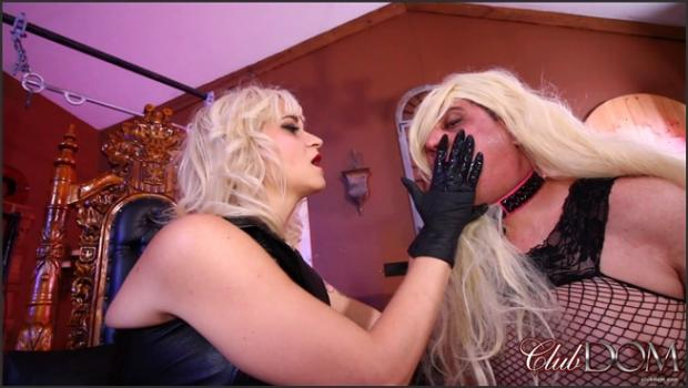 Clubdom.com- Goddess Dahlia Teases the Sissy with Cock