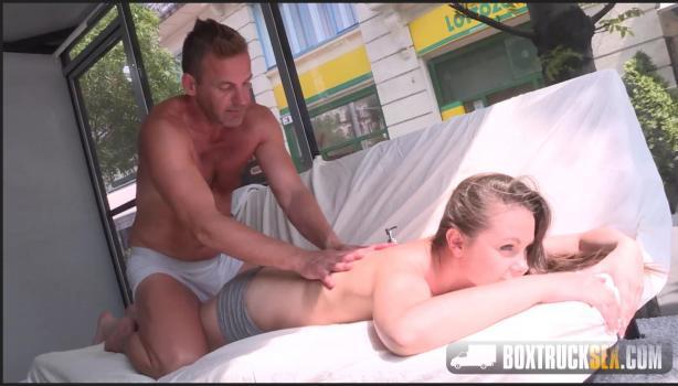 Boxtrucksex.com- Liza Shay gets a pussy massage