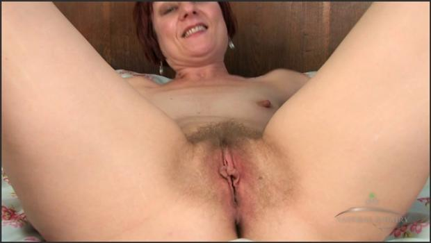 Auntjudys.com- Mature Penny Brooks spreads her hairy snatch for the camera
