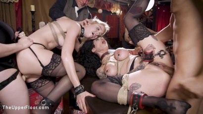 Kink.com- Anal Sluts Tied Down for Service at BDSM Swinger Party