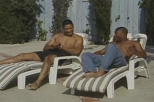 Awesomeinterracial.com- Muscle Bound Blacks Have Pool Anal Fuck