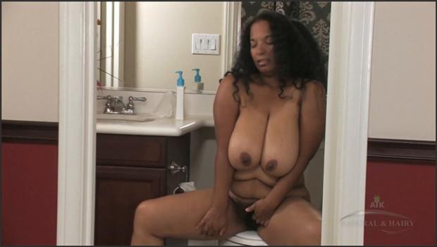 Auntjudys.com- Delilah is spied upon as she uses the bathroom exposing her hairy