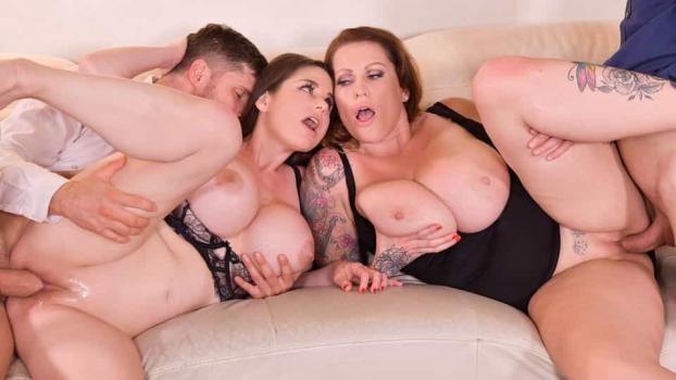 DDFBusty.com- Busty Group Sex Banger