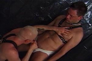 Awesomeinterracial.com- Two Guys Have Hard Anal In The Dungeon