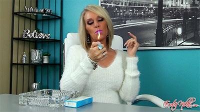 Eroticnikki.com- Smoking In A Fuzzy Sweater