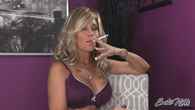Eroticnikki.com- Stroke Your Dick While I Smoke