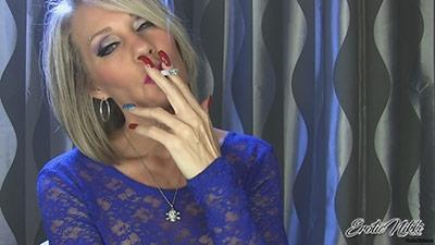 Eroticnikki.com- Sultry Smoking MILF