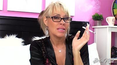 Eroticnikki.com- Aunt Nikki Smoke And Stroke