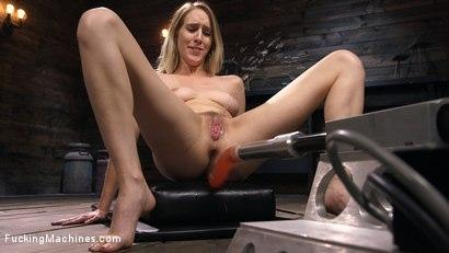 Kink.com- All Natural Blonde Babe Cadence Lux Squirts All Over Fucking Machines