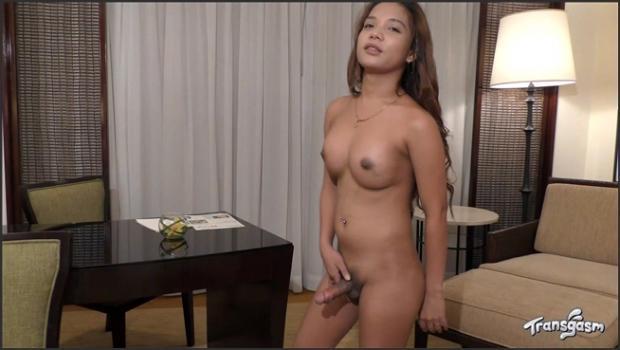 Transgasm.com- Adorably Hot Bercel Shoots Her Cum